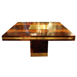 Wood laminate dining table, Willy RIZZO - 1970s
