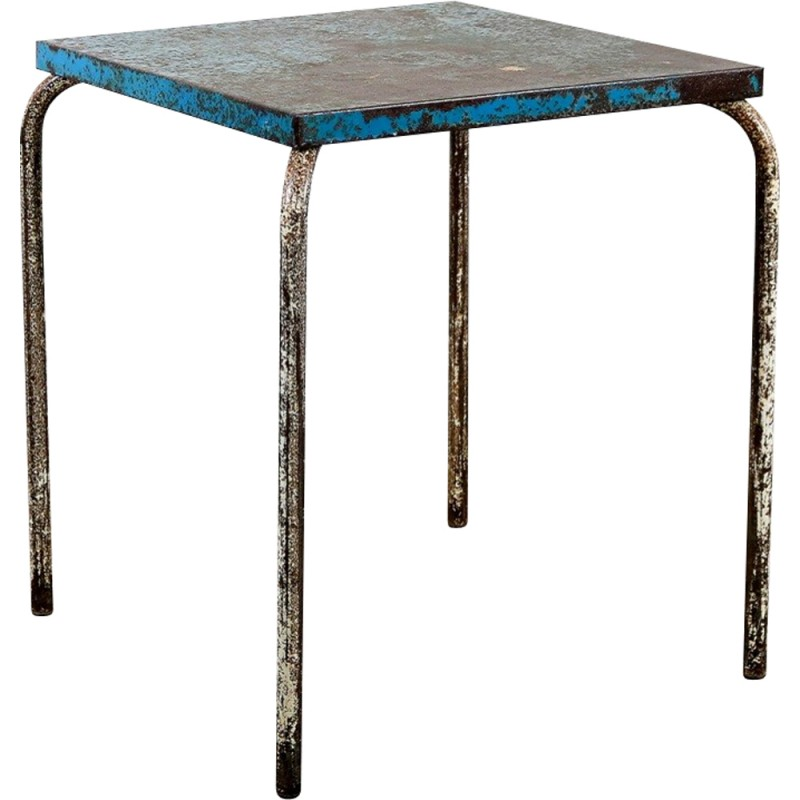 Xavier pauchard french industrial dining room furniture Pauchard Pair Industrial Tolix Side Table In Metal Xavier Pauchard 1950s Design Within Reach Industrial Tolix Side Table In Metal Xavier Pauchard 1950s