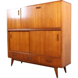 Large mid-century cabinet in teak wood - 1950s