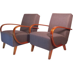 Thonet pair of club armchairs, Jindrich HALABALA - 1930s