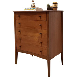 Mid-century chest of drawers in afromosia wood - 1960s
