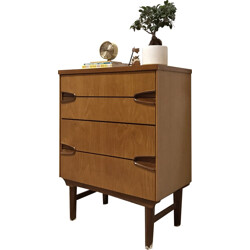Mid-century Remploy chest of drawers in oak and teak - 1960s