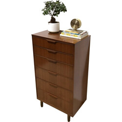 High Austinsuite chest of drawers in dark wood - 1960s