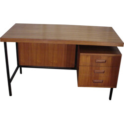 Vintage steel and teak desk - 1970s
