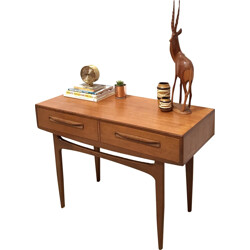"G-Plan ""Fresco"" console table in teak with drawers, V. B. WILKINS - 1960s"