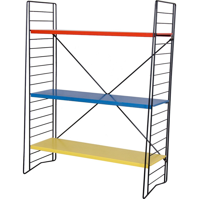Tomado standing rack with shelves in metal - 1950s