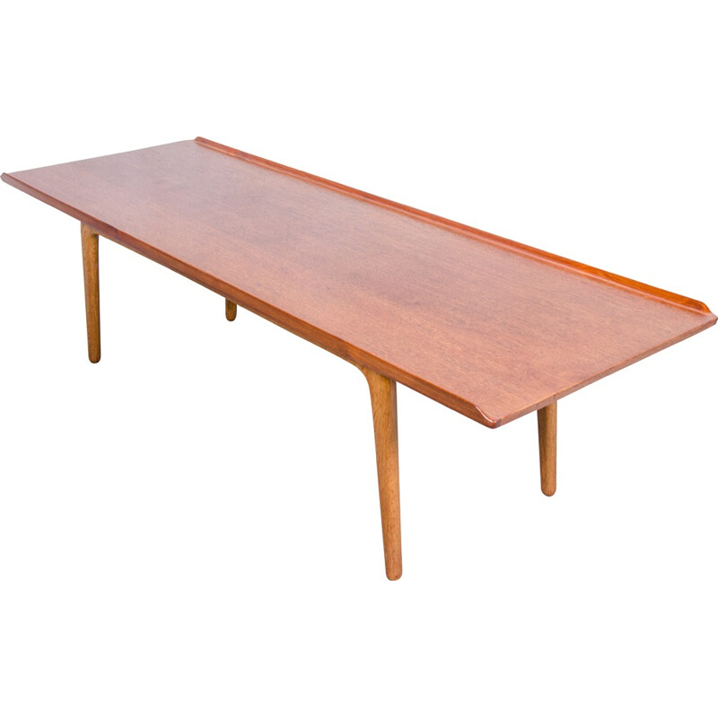 Bovenkamp teak and oak coffee table, Aksel BENDER MADSEN - 1960s