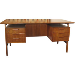 Scandinavian double face desk in solid wood - 1960s