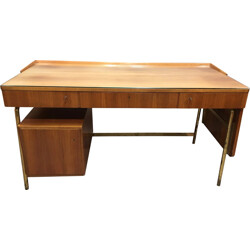 Mid century desk in rosewood and brass - 1950s