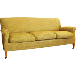 Lenygon & Morant 3-seater sofa in green fabric - 1950s