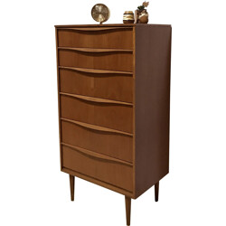 Tall Austinsuite chest of drawers in teak wood - 1960s