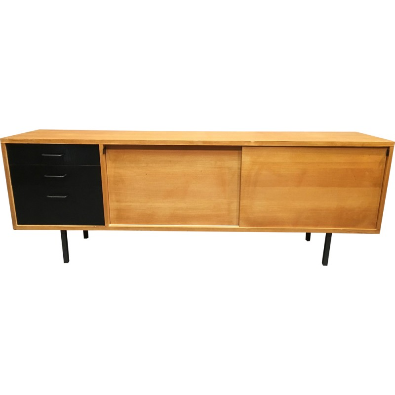 Mid Century Sideboard In Oak And Metal 1950s Design Market