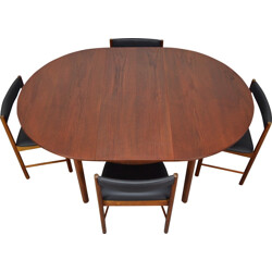 McIntosh teak extendable dining table and chairs - 1960s