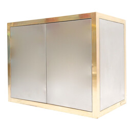 Brass and silver Cabinet, Axel Vervoordt - 1970s