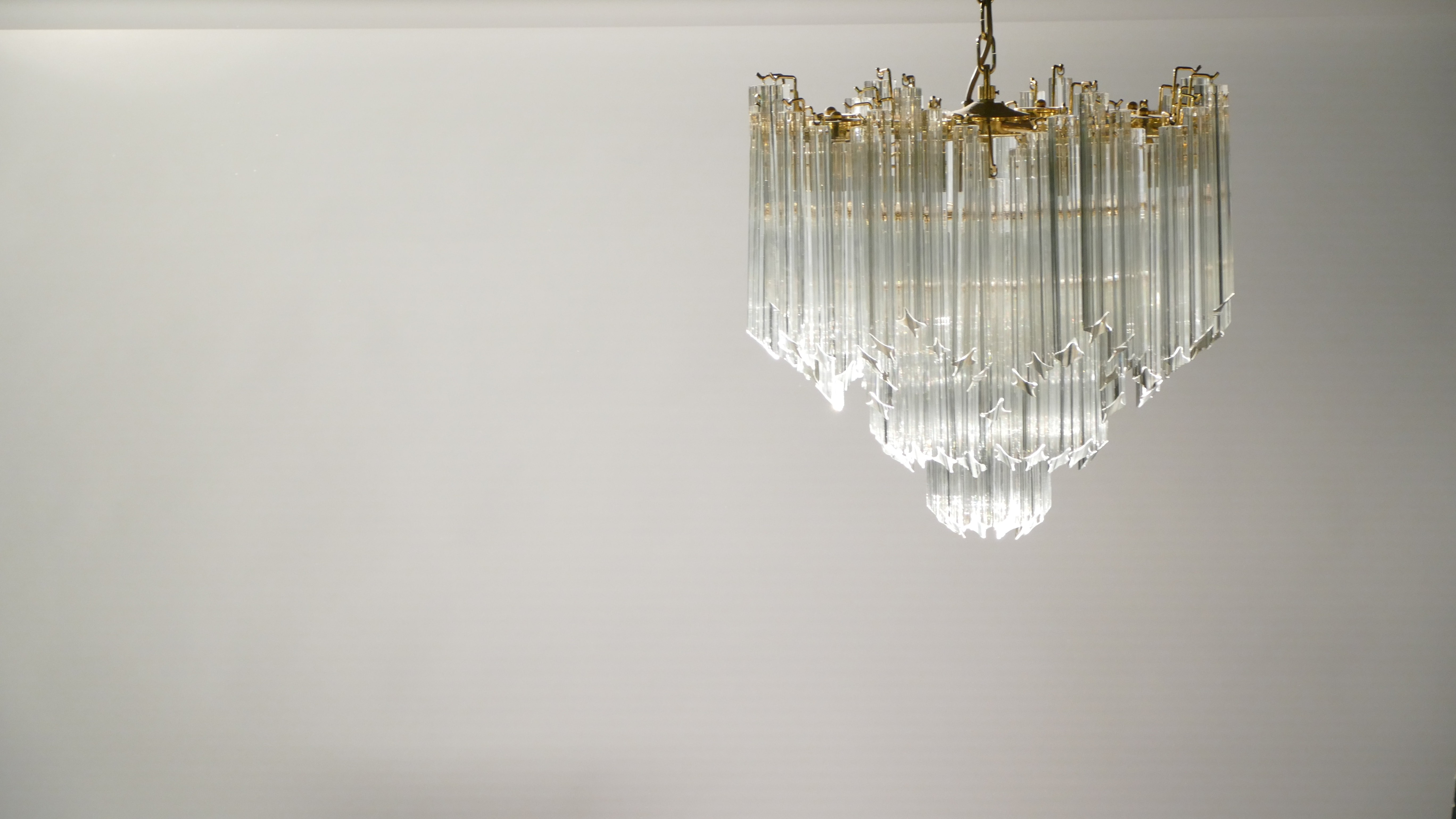 Italian murano chandelier in brass and crystal paolo venini previous next aloadofball Choice Image