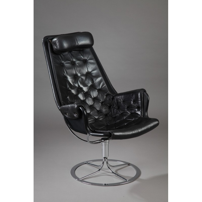 Incredible Dux Jetson Black Leather Armchair Bruno Mathsson 1960S Beatyapartments Chair Design Images Beatyapartmentscom