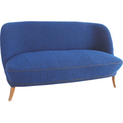 Mid century blue cocktail couch - 1950s
