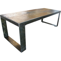 Mid-century brutalist coffee table, Paul KINGMA - 1960s