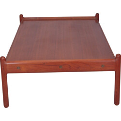 Scandinavian coffee table in teak - 1960s