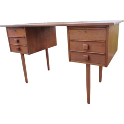 Mid century Danish teak double-side desk - 1960s