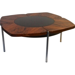 Mid-century coffee table in rosewood and teak - 1960s