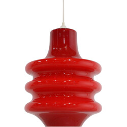 Red pendant in glass - 1970s