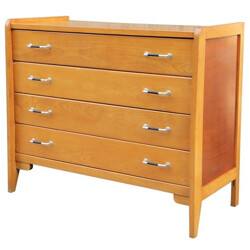 Mid-century golden wood chest of drawers - 1960s