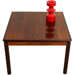 Square Bruksbo Norway coffee table in rosewood - 1960s