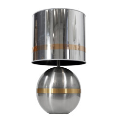 Table lamp in steel and brass, Gioffredo REGGIANI - 1970s