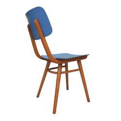 Mid-century blue resin dinning chair - 1960s