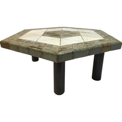 "Vallauris ceramic ""Lune"" coffee table, Roger CAPRON - 1960s"