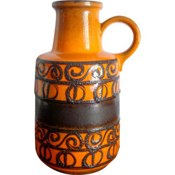 German vase in orange ceramic - 1960s