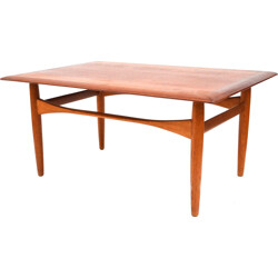 Bovenkamp coffee table in teak and oak, Aksel Bender MADSEN - 1960s