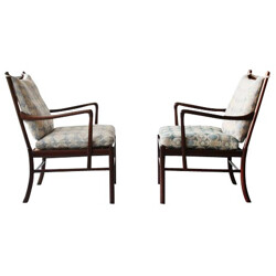 """Pair of PJ 149 armchairs  """"Colonial chair"""", Ole WANSCHER - 1950s"""