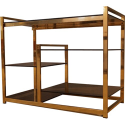Small glass and brass bookcase - 1970s