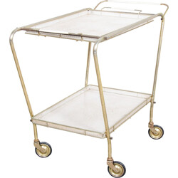 Serving trolley in brass and lacquered metal - 1950s