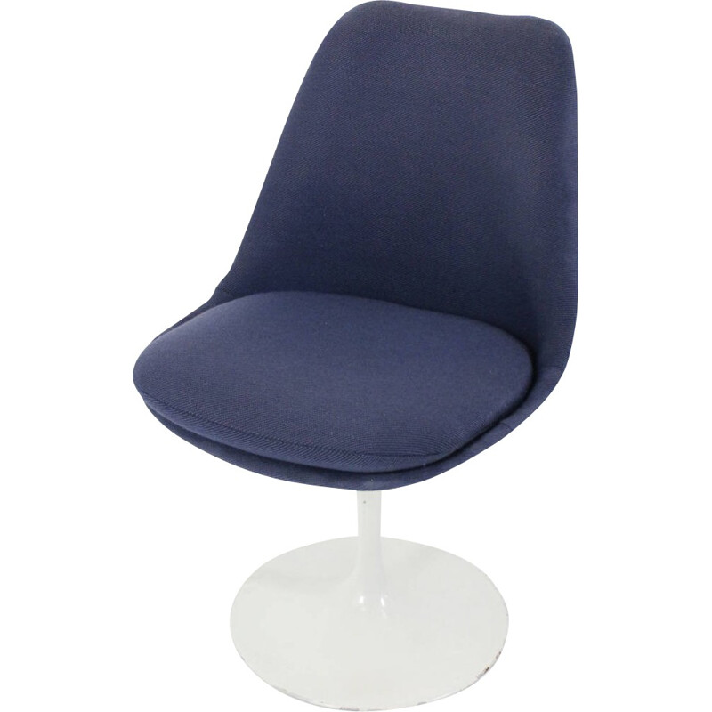 "Knoll ""tulip"" chair in blue, Eero SAARINEN - 1960s"