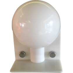 """Sirio"" acryl table lamp in white, Harvey GUZZINI - 1970s"