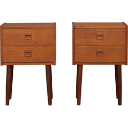 A pair of Danish night stands - 1970s