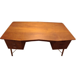 Danish teak and beech desk -1950s