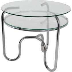 Mid-century chromed steel tubular table - 1930s