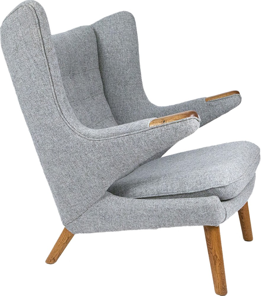 "AP-19 ""Papa Bear"" armchair in grey, Hans J. WEGNER - 1950s ..."