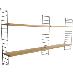 String Furniture 2 modules oak wall unit, Nisse STRINNING - 1960s