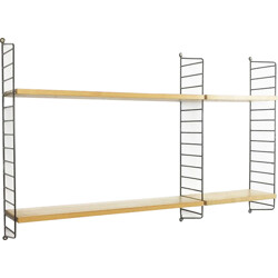 String Furniture ash shelving unit, Nisse STRINNING - 1970s