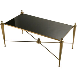 Maison Ramsay coffee table in golden iron - 1960s