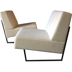 """Sièges Temoins pair of """"Courchevel"""" easy chairs, Pierre GUARICHE - 1950s"""