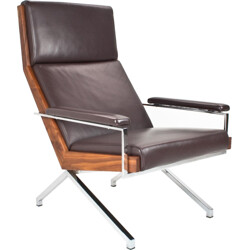 """Bränd brown leather """"Lotus"""" lounge chair, Rob PARRY - 2000s"""