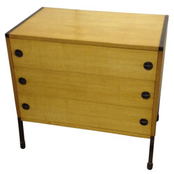 Chest of drawers in beech wood, ARP - 1950s