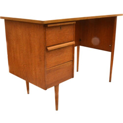 Small oak desk with drawers - 1970s