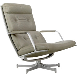 "Kill International grey lounge chair ""FK85"", Preben FABRICIUS and Jorgen KASTHOLM - 1960s"